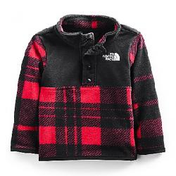 The North Face Infant Glacier 1/4 Snap Top TNF Red Holiday 2 Plaid Print
