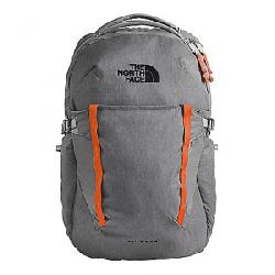 The North Face Pivoter Backpack Zinc Grey Dark Heather / Persian Orange