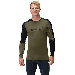 Norrona Men's Equaliser Merino Round Neck Baselayer Olive Night / Foliage