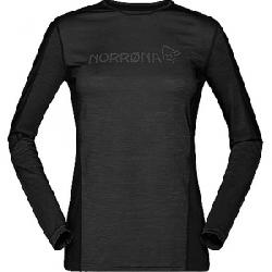 Norrona Women's Equaliser Merino Round Neck Baselayer Caviar