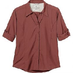 Royal Robbins Women's Expedition Chill Stretch 3/4 Sleeve Shirt Marron