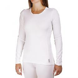Hot Chillys Women's Micro-Elite Chamois 8K Crewneck Top White