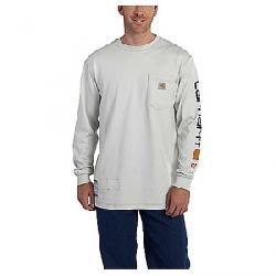 Carhartt Men's Flame Resistant Force Cotton Graphic LS T-Shirt Light Grey