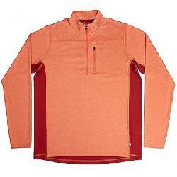 Fjallraven Men's Abisko Vent Zip LS T-Shirt Flame Orange / Deep Red