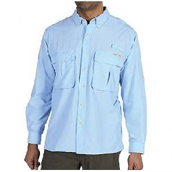 ExOfficio Men's Air Strip Long Sleeve Shirt Light Lapis