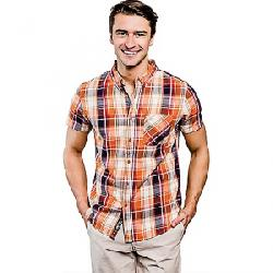 United By Blue Men's Springer Plaid SS Shirt Orange / Blue