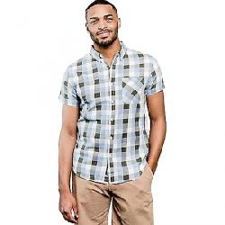 United By Blue Men's Everett Plaid SS Shirt Green / Blue
