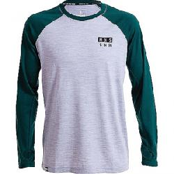 Mons Royale Men's Coreshot Raglan LS Wool Thermal Top Green / Grey Marl