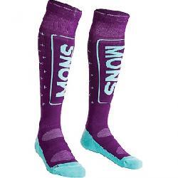 Mons Royale Women's Mons Snow Tech Ski Sock Pinot / Mint