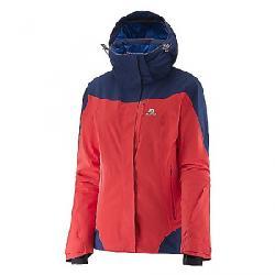 Salomon Women's Icerocket Jacket Infrared / Wisteria Navy