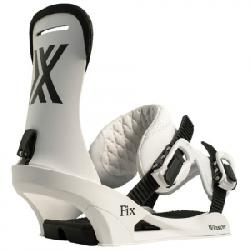 Fix Winslow Snowboard Bindings White Lg