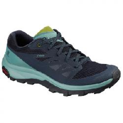 Salomon Outline GTX Hiking Shoes - Women's Trellis/navy Blaze 9.5