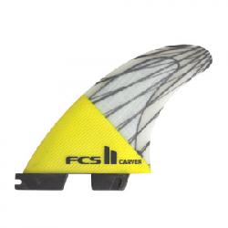 FCS II Carver PC Carbon Tri Yellow Lg