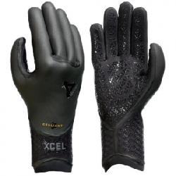 XCEL 3mm Drylock 5 Finger Gloves Blk Xxs