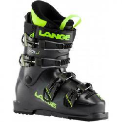 Lange RXJ Ski Boot - Kid's Anthracite/lime 26.5