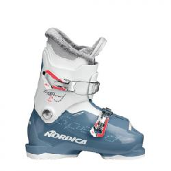 Nordica Speedmachine J2 Ski Boots - Girl's Light Blue/white 21.5