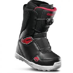 Thirtytwo Lashed Crab Grab Boot - Kid's Black/red/white 4c
