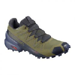 Salomon Speedcross 5 GTX Shoes - Women's Burnt Olive/crown Blue/india