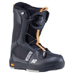 K2 Mini Turbo Snowboard Boots - Kids' Black 13k