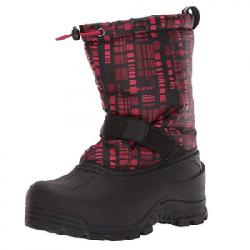 Northside Frosty Snow Boot - Boys Charcoal/red 6