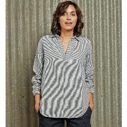 Purnell Double-Sided Striped Tunic Womens Shirt