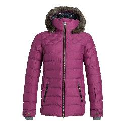 Roxy Quinn w/Faux Fur Womens Insulated Snowboard Jacket
