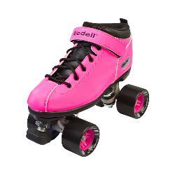 Riedell Dart Neon Pink Womens Speed Roller Skates 2018