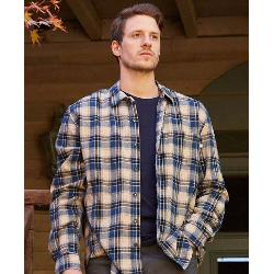 Purnell Blue Cream Plaid Flannel Flannel Shirt