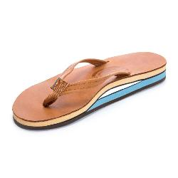 Rainbow Sandals Double Layer Classic Leather Womens Flip Flops