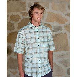 Purnell Light Green Madras Plaid Mens Shirt
