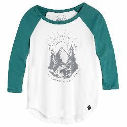 United By Blue 3/4 Two Pines Baseball Tee Womens Shirt