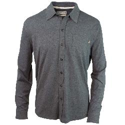 Purnell Jersey Knit Button-Up Mens Shirt