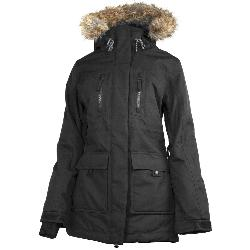 Powder Room Station w/Faux Fur Womens Insulated Snowboard Jacket