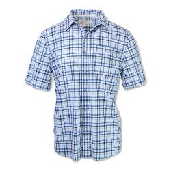 Purnell 4-Way Stretch Quick Dry Checkered Plaid Mens Shirt