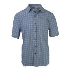 Purnell 4-Way Stretch Quick Dry Grey Plaid Mens Shirt