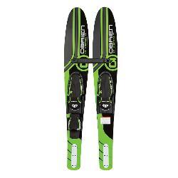 O'Brien Vortex Junior Combo Water Skis With Jr X7 Adjustable Bindings 2020