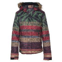 Roxy Jet Ski SE w/Faux Fur Womens Insulated Snowboard Jacket