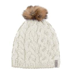 Rella Hi Rise Real Fur Pom Beanie Womens Hat