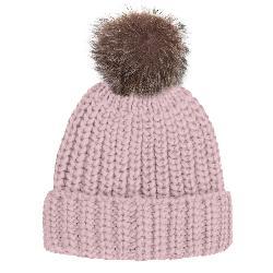 Rella Nostalgia Cuff w/Faux Fur Pom Womens Hat