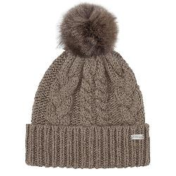 Rella Goldie Cuff w/Faux Fur Pom Womens Hat