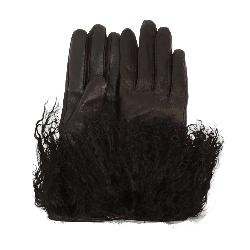 UGG Leather Mongolian Womens Gloves