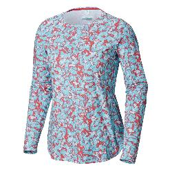 Columbia Printed PFG Zero Long Sleeve Womens Shirt