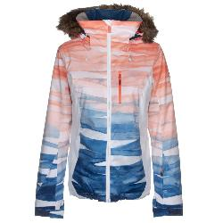 Roxy Jet Ski Premium Faux Fur Womens Insulated Snowboard Jacket 2020