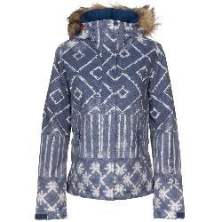Roxy Jet Ski SE Faux Fur Womens Insulated Snowboard Jacket