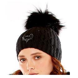 M Miller Furs Deer Logo Cable Womens Hat