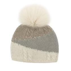 Mitchies Matchings Colour Block Knitted Womens Hat 2020