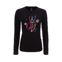 FERA Ski Like A Girl Long Sleeve Womens T-Shirt
