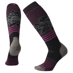 SmartWool PhD Snow Medium Traced Dahlia Pattern Womens Snowboard Socks