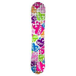 Sionyx Hearts White Girls Snowboard