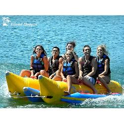 Island Hopper Commercial Banana Boat 6 Passenger Side-By-Side Towable Tube
